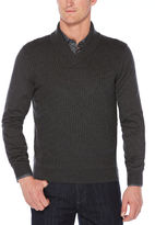 Perry Ellis Cable Shawl Pullover Cardigan