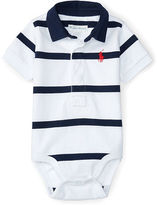 Ralph Lauren Striped Cotton Polo Bodysuit