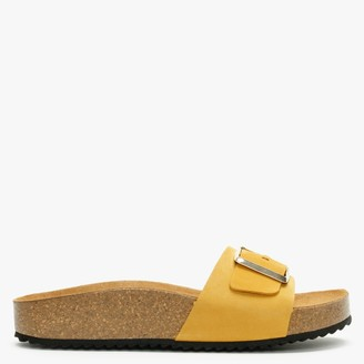 Daniel Parisa Yellow Suede One Strap Mules