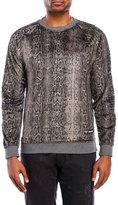 Iuter Raglan Snake Print Teddy Bear Sweatshirt