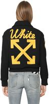 Off-White Wool Felt Varsity Jacket With Patches