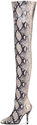 Stuart Weitzman 100mm Shilo Snake Print Stretch Boots
