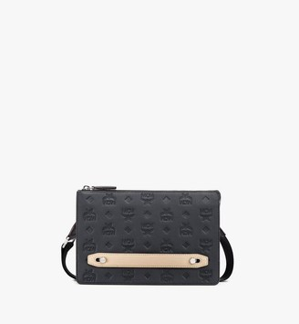 MCM Klara Crossbody Pouch in Monogram Leather