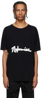 Nahmias Black Scripted Logo T-Shirt