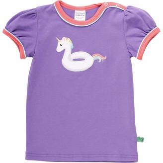 Green Cotton Fred's World by Baby Girls' Hello Unicorn T Shirt