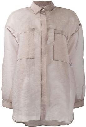 Sunnei Contrast Stitch Shirt