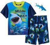Boys 4-12 Up-Late 2-Piece Shark Pajama Set