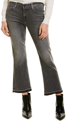 J Brand Selena Mid-Rise Earl Grey Crop Boot Cut