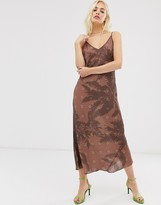 Asos shadow palm print high apex slip dress