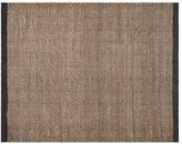 Pottery Barn Cooper Zig-Zag Natural Fiber Rug - Black