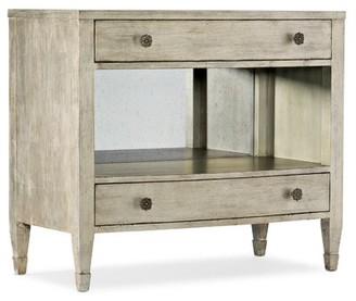 Hooker Furniture Sanctuary 2 Gemme 2 Drawer Solid Wood Nightstand Silver
