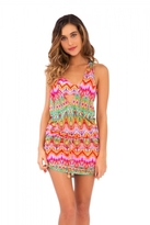 Luli Fama Sunkissed Laughter T-Back Mini Dress in Multicolor (L445979)