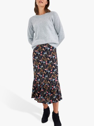 White Stuff Piets Midi Skirt, Navy