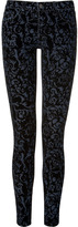 J Brand Jeans Black Brocade Flocking Jeans