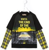 John Galliano layered effect T-shirt