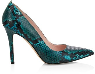 Sarah Jessica Parker Fawn Python-Embossed Leather Pumps