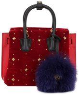 MCM Mini Milla Studded Velvet Shoulder Bag