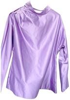 Saint Laurent Purple Cotton Top for Women