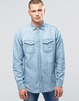 Pepe Jeans Pepe Hammond Denim Shirt Z31 Used Chambray