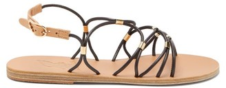 Ancient Greek Sandals Pasifai Crossover Leather Sandals - Brown Gold