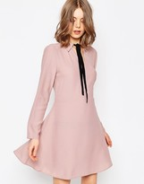 Asos Shirt Dress With Contrast Tie