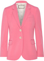 Gucci Stretch Wool And Silk-blend Blazer - Bubblegum
