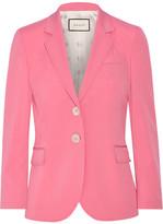 Gucci Stretch Wool And Silk-blend Blazer - Bubblegum