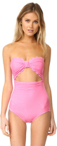 Kate Spade Marina Piccola Scalloped Cutout One Piece