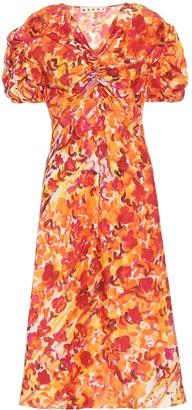 Marni Floral silk dress