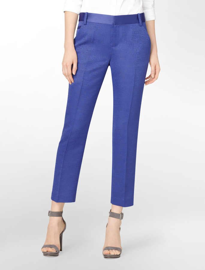 Calvin Klein Jacquard Ankle Pants