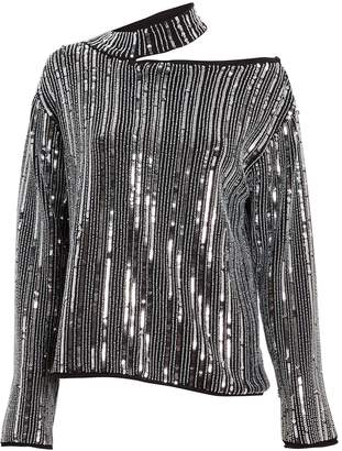 RtA Langley Sequin Cut-Out Sweater