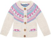 Jo-Jo JoJo Maman Bebe Fair Isle Cardigan (Toddler/Kid) - Natural-4-5 Years