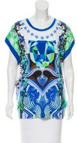 Just Cavalli Casual Graphic Print Top w/ Tags