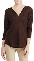 Lauren Ralph Lauren Whipstitched Linen Tunic