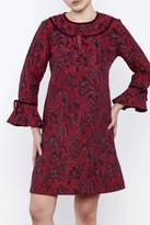 Anna Sui Cassis Long Sleeve Dress