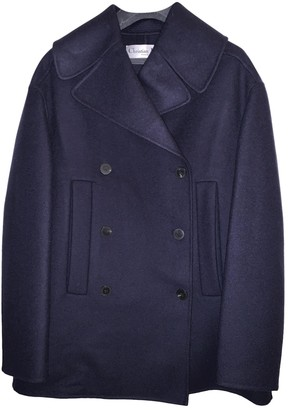 Christian Dior Blue Cashmere Coat for Women