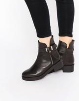 Miista Buckle Chunky Flat Boots