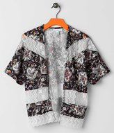 Girls - Side Of Fries Floral Cardigan