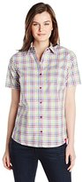 Dickies Women's Short-Sleeve Plaid Shirt