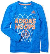 adidas Boys 4-7) Hoops Space-Dye Tee