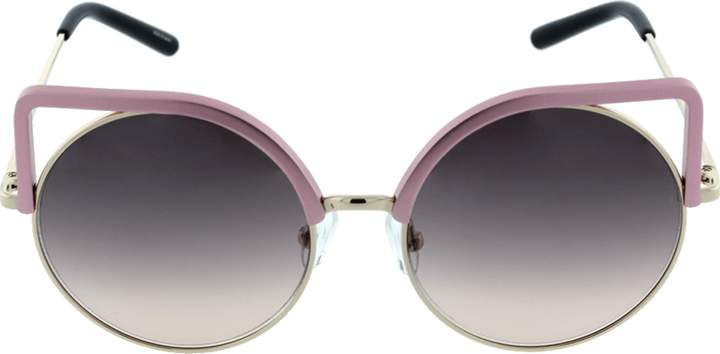 Matthew Williamson Square Frame Round Sunglasses