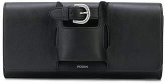 Perrin Paris buckle detail clutch
