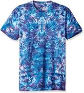 Liquid Blue Men's Crazy Blue Krinkle Tie Dye Short Sleeve T-Shirt