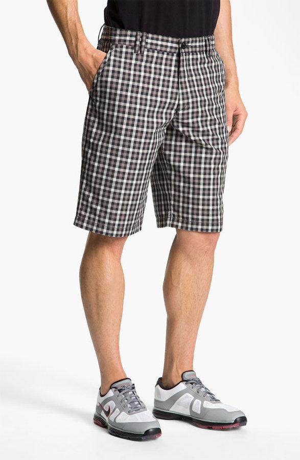 HUGO BOSS BOSS Green 'Hitch' Plaid Golf Shorts