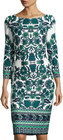 Eliza J-eliza j floralprint midi sheath dress ivy