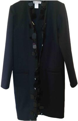 Oscar de la Renta Navy Wool Coats