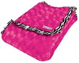 Trend Lab Velour Blanket with Trim, Pink Rosette with Zebra by