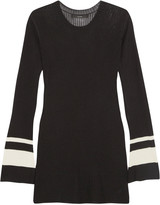 Ellery Barbie two-tone ribbed-knit sweater