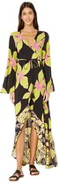 Maaji Tale Of Tales Kimono Cover-Up (Artemis Lime Floral) Women's Swimwear