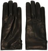 Lanvin classic gloves - men - Leather/Cashmere/Wool - 9